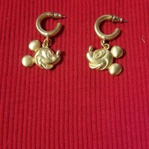 Disney Micket Mouse Hoop Gold Earrings